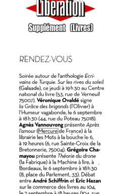 Libération, septembre 2013